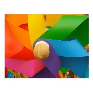 Bright Pinwheel postcard