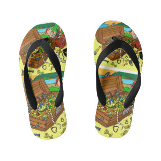 Bright pirate jandals, flip flops for boys