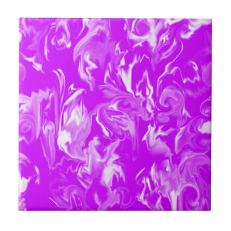 Bright Purple and White Mixed Color Tile