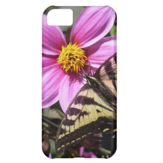 Bright Purple Flower with Butterfly on Petals iPhone 5C Case