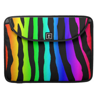 Bright Rainbow Colored Zebra Stripes Sleeve For MacBook Pro