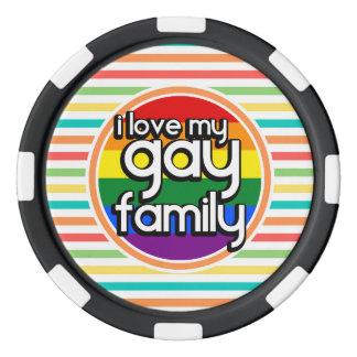 Bright Rainbow Stripes, Gay Family Poker Chips