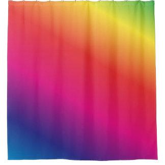 Bright Rainbow Tie Dye Shower Curtain
