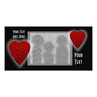 Bright Red Heart Picture. Photo Greeting Card