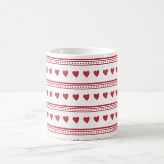 Bright Red Hearts Mug