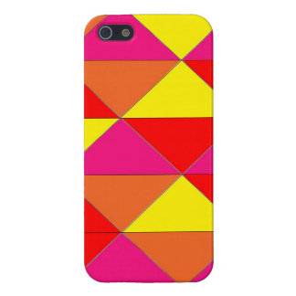 Bright Red Orange Yellow Pink glossy case iPhone 5/5S Case