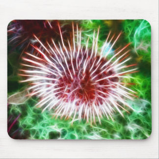 Bright Red Sea Urchin Mouse Pad