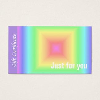 Bright Retro Pastel Rainbow Geometric Squares Blur Business Card