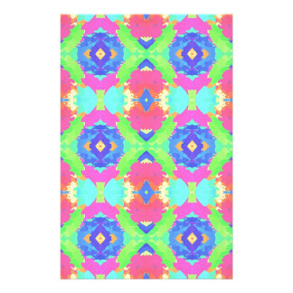 Bright Rich Pastel Tribal Pattern Stationery
