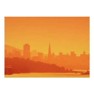 Bright San Francisco sunset. Poster