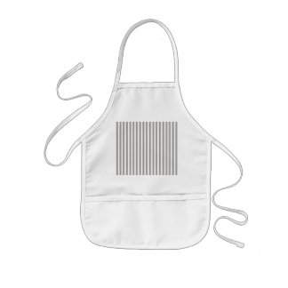 Bright Silver Thistle Cabana Stripe Pattern Kids Apron