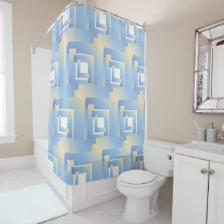 bright sky colors shower curtain