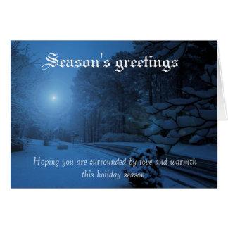 Bright star greeting card