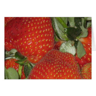 Bright sweet Strawberries Thank You Note Card