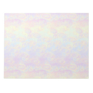 Bright Swirl Fractal Patterns Rainbow Psychedelic Notepad