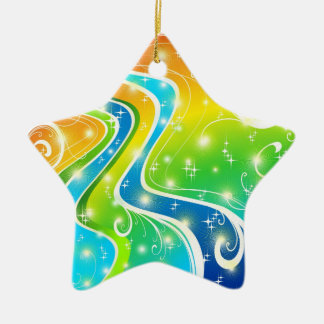 Bright Swirls and Colors Christmas Ornament