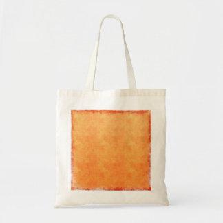 Bright tangerine orange tote bag