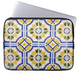 Bright tile pattern, Portugal Laptop Sleeve