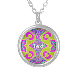 Bright Yellow Abstract Personalized Necklace