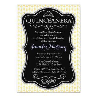 Bright Yellow and White 11 Cm X 16 Cm Invitation Card