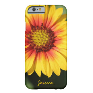 Bright yellow daisy, personalised iPhone 6 case Barely There iPhone 6 Case