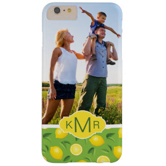 Bright Yellow Lemon Pattern | Add Your Photo Barely There iPhone 6 Plus Case