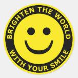 Brighten The World With Your Smile Round Sticker