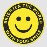 Brighten The World With Your Smile Classic Round Sticker