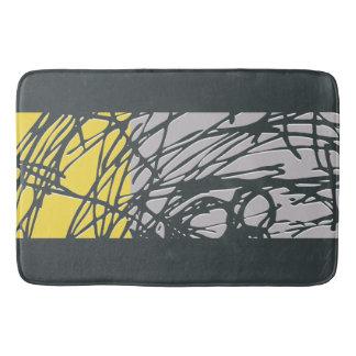 Brighter Nest Abstract Bold Yellow & Grey Bathmat