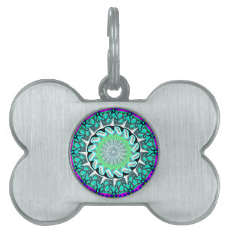 brightgreenblue dog tag pet ID tag