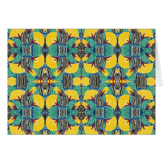 Brightly Colored Art Deco Pattern Card