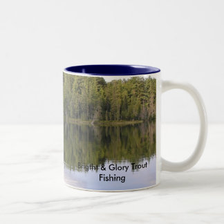 Brigtht & Glory Trout Fishing Two-Tone Coffee Mug