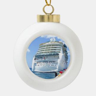 Brilliance Stern Ceramic Ball Christmas Ornament