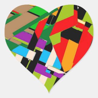 Brilliant Abstract Design Heart Sticker
