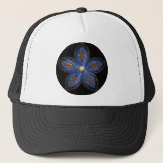 Brilliant Blues Batik Trucker Hat