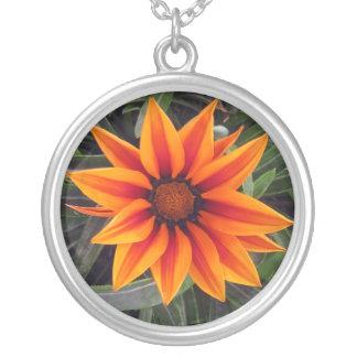Brilliant Orange Daisy Necklace