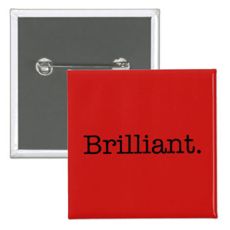 Brilliant Quote Poppy Red Trend Color Template 15 Cm Square Badge