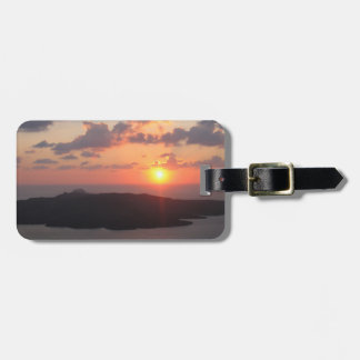 Brilliant Santorini Sunset Luggage Tag