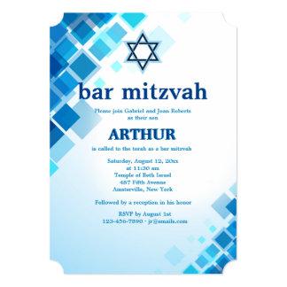 Brilliant Squares Bar Mitzvah Invitation