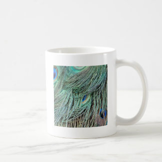 brilliantly Peafowl Spotted Feather Coffee Mug