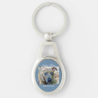 Brindle Pit Bull Puppy by Shirley Taylor Key Ring