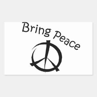 Bring Peace Rectangular Sticker