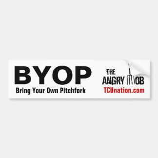 Bring Your Own Pitchfork Bumper Sticker