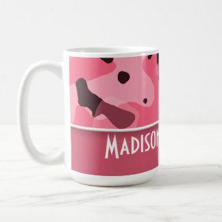 Brink Pink Camo; Personalized Mug