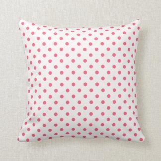 Brink Pink Polka Dots Pillows