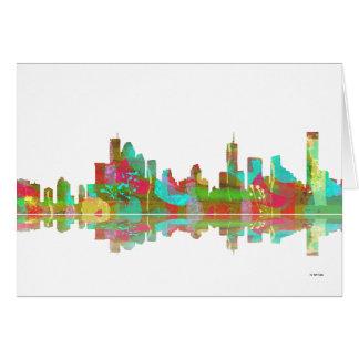 Brisbane Qld Skyline Card