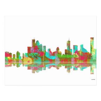 Brisbane Qld Skyline Postcard