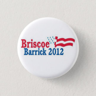 briscoe/barrick 2012 3 cm round badge