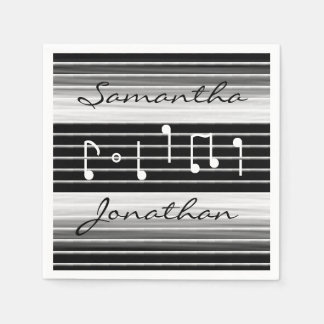 Bristles Musical Notes Personalized Disposable Napkins