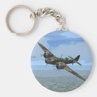 Bristol Blenheim Basic Round Button Key Ring